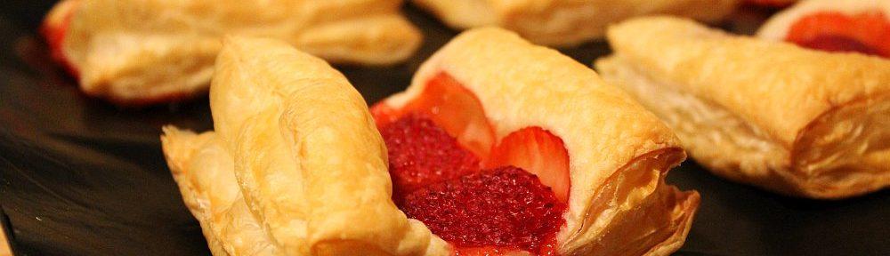 Erdbeer-Blätterteig-Teilchen