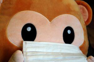Ein Maskenaffe