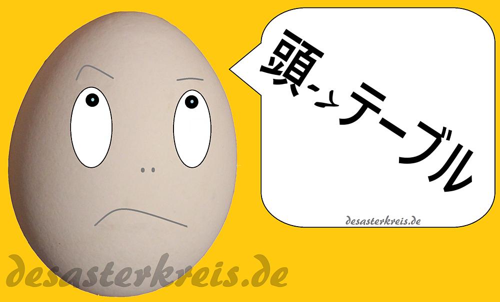 Kopf -> Tisch auf Japanisch ;-)